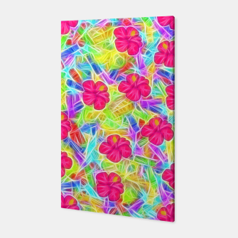 Hawaiian Pink Flowers Canvas thumbnail image