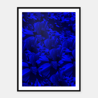 A202 Rich Blue and Black Abstract Design Framed poster thumbnail image