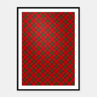 Thumbnail image of Red Tartan Plaid Pattern Framed poster, Live Heroes