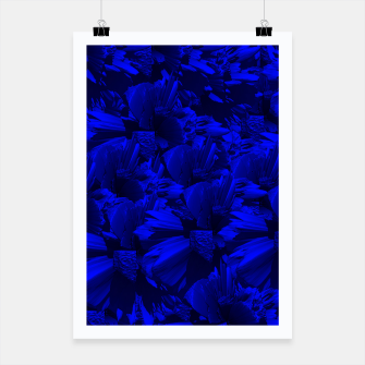 A202 Rich Blue and Black Abstract Design Poster thumbnail image