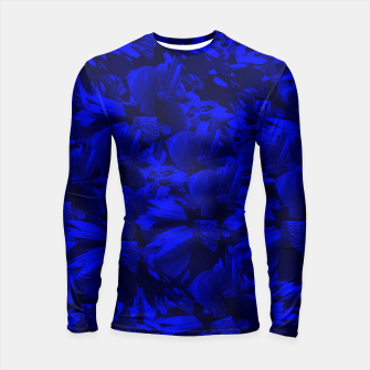 A202 Rich Blue and Black Abstract Design Longsleeve Rashguard  thumbnail image