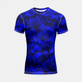 A202 Rich Blue and Black Abstract Design Shortsleeve Rashguard thumbnail image