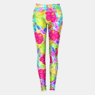 Hawaiian Pink Flowers Leggings thumbnail image