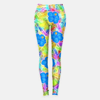 Hawaiian Blue Flowers Leggings thumbnail image
