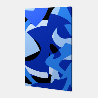 A-201 Abstract Blues Combo   Canvas thumbnail image