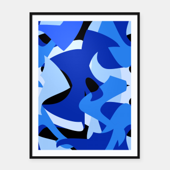 A-201 Abstract Blues Combo   Framed poster thumbnail image
