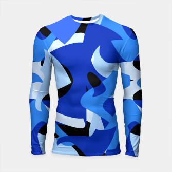 A-201 Abstract Blues Combo   Longsleeve Rashguard  thumbnail image