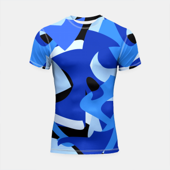 A-201 Abstract Blues Combo   Shortsleeve Rashguard thumbnail image