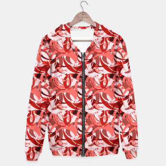 Miniatur Abstract Curls - Burgundy,Coral Hoodie, Live Heroes