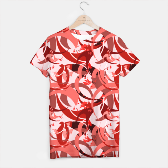 Thumbnail image of Abstract Curls - Burgundy,Coral T-shirt, Live Heroes