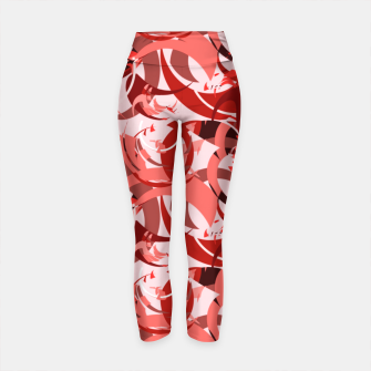 Thumbnail image of Abstract Curls - Burgundy,Coral Yoga Pants, Live Heroes