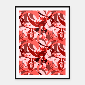 Thumbnail image of Abstract Curls - Burgundy,Coral Framed poster, Live Heroes