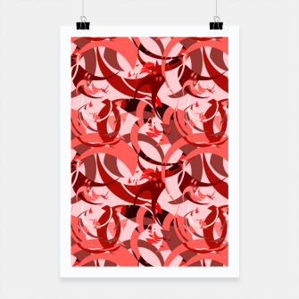 Miniatur Abstract Curls - Burgundy,Coral Poster, Live Heroes