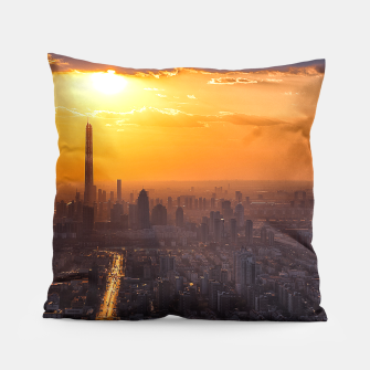 Thumbnail image of Tianjin City at Sunset Pillow, Live Heroes