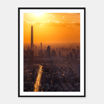 Thumbnail image of Tianjin City at Sunset Framed poster, Live Heroes