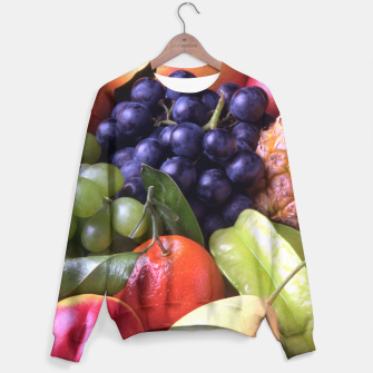 Thumbnail image of Tropical Exotic Fruits Sweater, Live Heroes