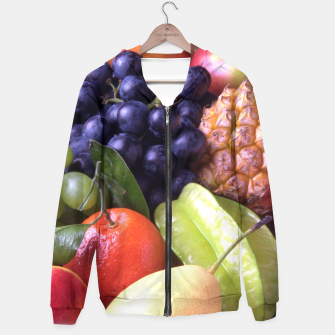 Miniatur Tropical Exotic Fruits Hoodie, Live Heroes