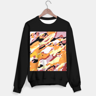 Thumbnail image of camouflage graffiti painting texture abstract brown yellow and black Sweater regular, Live Heroes
