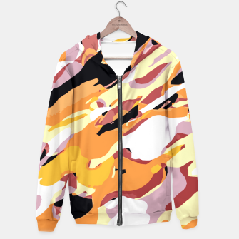 Miniatur camouflage graffiti painting texture abstract brown yellow and black Hoodie, Live Heroes