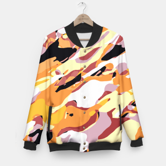 Miniatur camouflage graffiti painting texture abstract brown yellow and black Baseball Jacket, Live Heroes