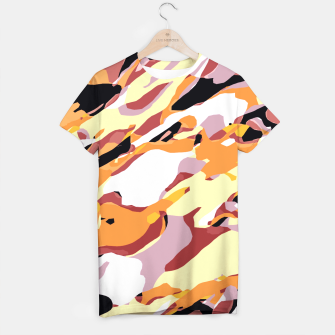 Thumbnail image of camouflage graffiti painting texture abstract brown yellow and black T-shirt, Live Heroes