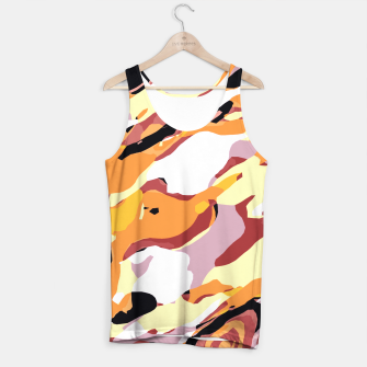 Miniatur camouflage graffiti painting texture abstract brown yellow and black Tank Top, Live Heroes