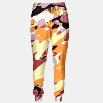 Miniatur camouflage graffiti painting texture abstract brown yellow and black Sweatpants, Live Heroes