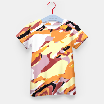 Thumbnail image of camouflage graffiti painting texture abstract brown yellow and black Kid's T-shirt, Live Heroes