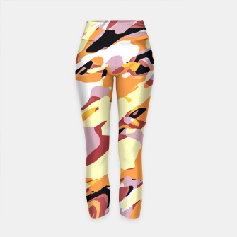 Thumbnail image of camouflage graffiti painting texture abstract brown yellow and black Yoga Pants, Live Heroes
