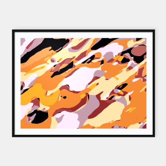Thumbnail image of camouflage graffiti painting texture abstract brown yellow and black Framed poster, Live Heroes