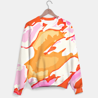 Miniatur camouflage graffiti painting texture abstract in pink orange red brown Sweater, Live Heroes