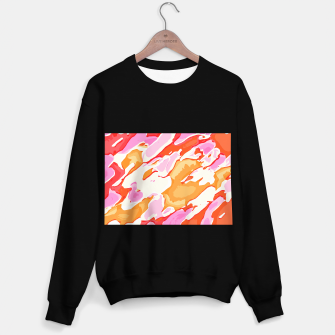 Thumbnail image of camouflage graffiti painting texture abstract in pink orange red brown Sweater regular, Live Heroes