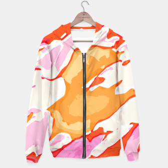 Miniatur camouflage graffiti painting texture abstract in pink orange red brown Hoodie, Live Heroes