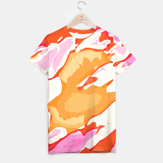 Thumbnail image of camouflage graffiti painting texture abstract in pink orange red brown T-shirt, Live Heroes