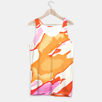 Miniatur camouflage graffiti painting texture abstract in pink orange red brown Tank Top, Live Heroes