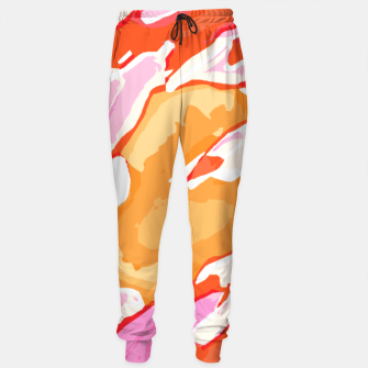 Miniatur camouflage graffiti painting texture abstract in pink orange red brown Sweatpants, Live Heroes