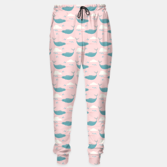 Miniatur Narwhal pink Sweatpants, Live Heroes