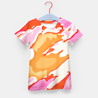 Thumbnail image of camouflage graffiti painting texture abstract in pink orange red brown Kid's T-shirt, Live Heroes
