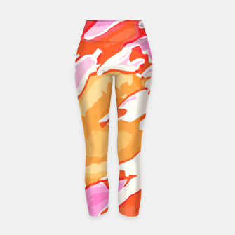 Thumbnail image of camouflage graffiti painting texture abstract in pink orange red brown Yoga Pants, Live Heroes