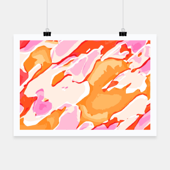 Miniatur camouflage graffiti painting texture abstract in pink orange red brown Poster, Live Heroes