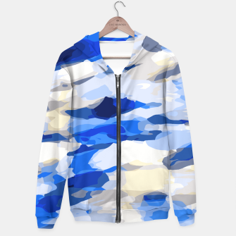 Miniatur camouflage graffiti painting texture abstract in blue and white Hoodie, Live Heroes