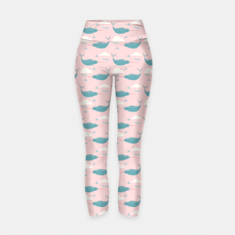 Thumbnail image of Narwhal pink Yoga Pants, Live Heroes