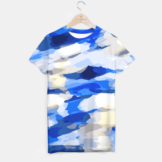 Thumbnail image of camouflage graffiti painting texture abstract in blue and white T-shirt, Live Heroes