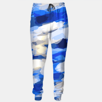 Miniatur camouflage graffiti painting texture abstract in blue and white Sweatpants, Live Heroes