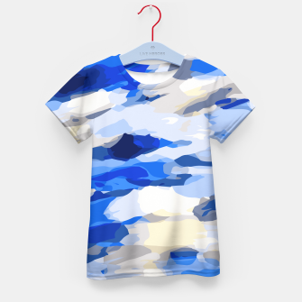 Thumbnail image of camouflage graffiti painting texture abstract in blue and white Kid's T-shirt, Live Heroes