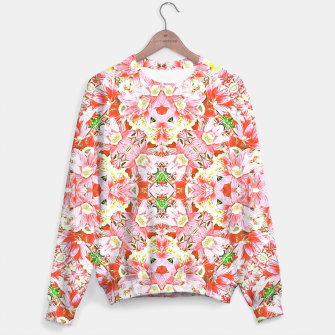 Miniatur K196 Abstract Pink Flowers  Sweater, Live Heroes