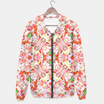 Miniatur K196 Abstract Pink Flowers  Hoodie, Live Heroes