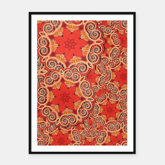 Gold 'n Rusty Curls Abstract  Framed poster thumbnail image