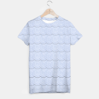 Thumbnail image of Serenity Blue Faux Lace  T-shirt, Live Heroes