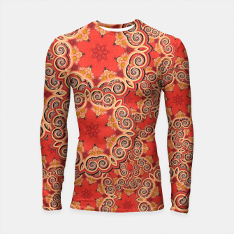 Gold 'n Rusty Curls Abstract  Longsleeve Rashguard  thumbnail image
